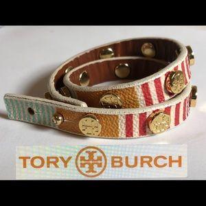 💃 💃 Tory Burch Double wrap leather bracelet